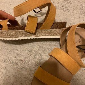 Shoes - Mustard platform sandals